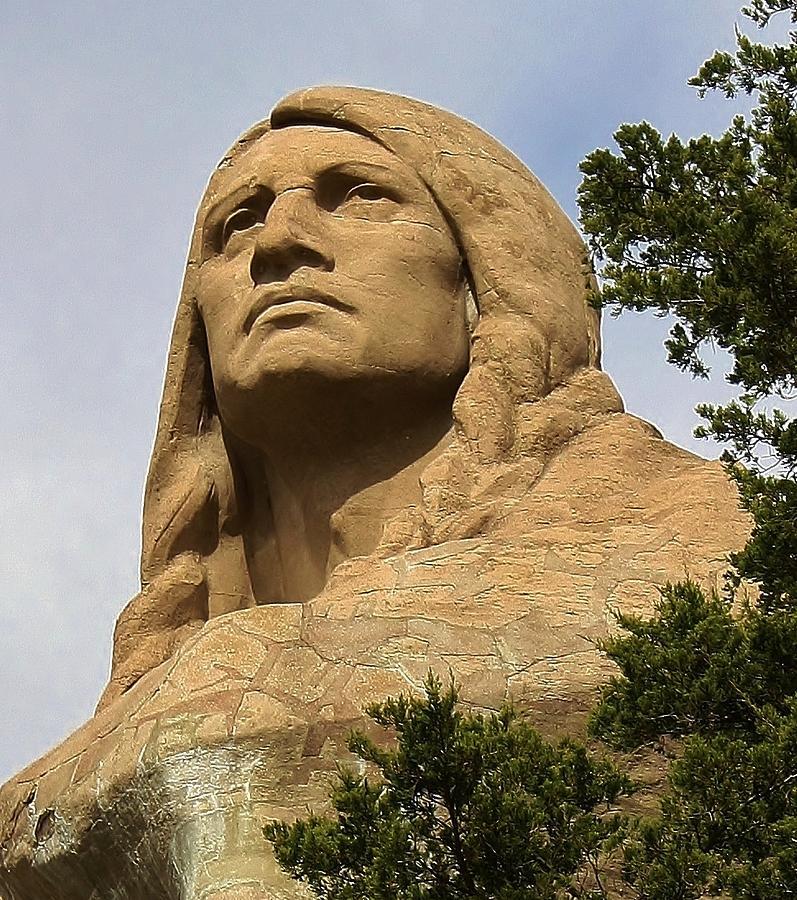 Statue Photograph - Chief Blackhawk by Bruce Bley