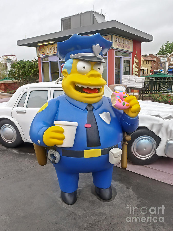 Florida Photograph - Chief Clancy Wiggum from The Simpsons by Edward Fielding