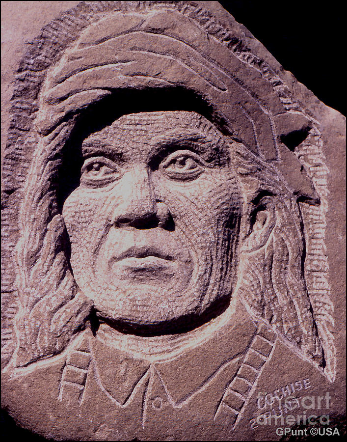 American Indians Sculpture - Chief-cochise-2 by Gordon Punt