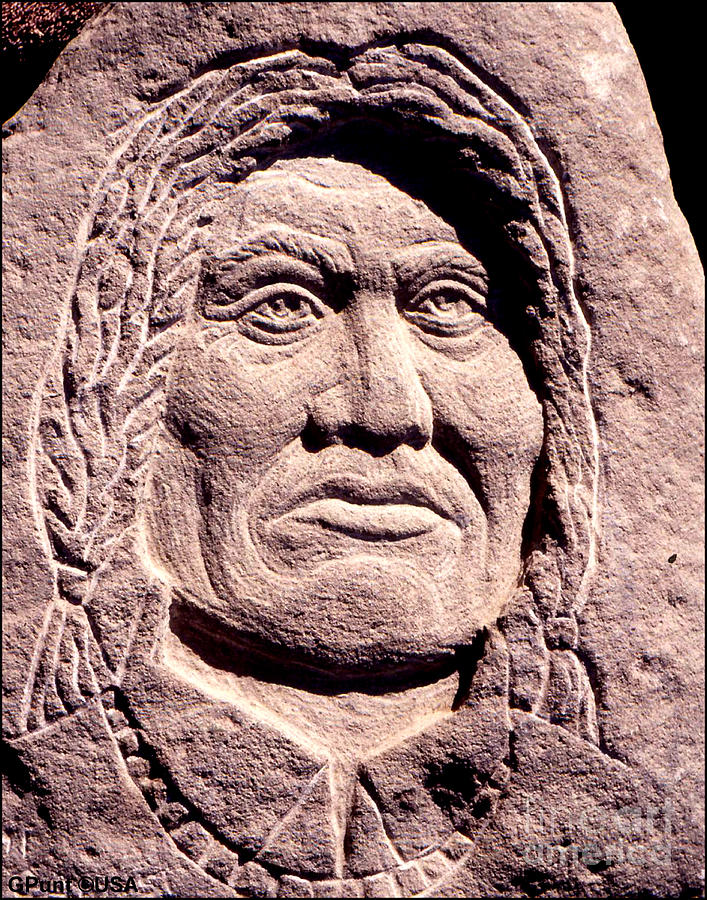 American Indians Sculpture - Chief-gall by Gordon Punt