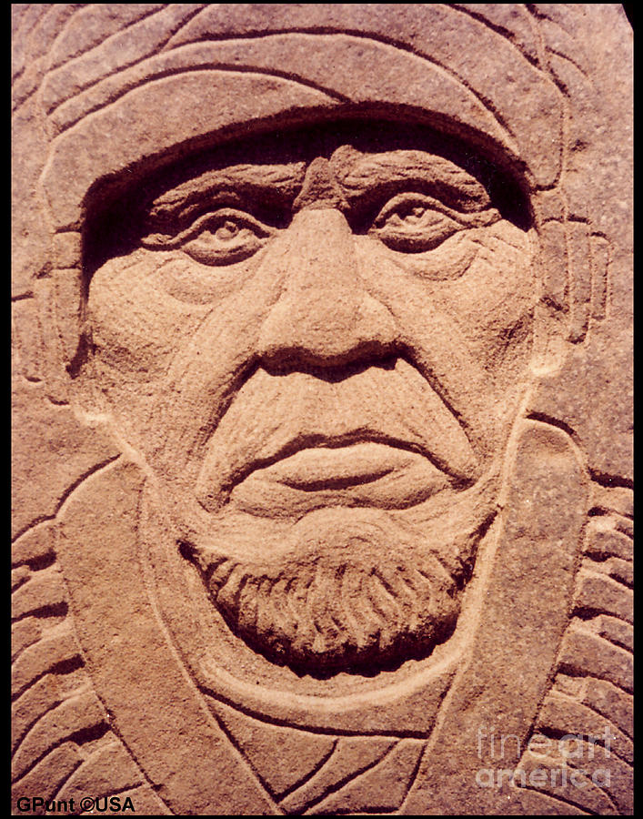 American Indians Sculpture - Chief-keokuk by Gordon Punt