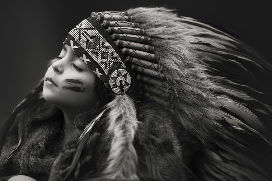 Native American Photograph - Chief Of Her Dreams by Carmit Rozenzvig