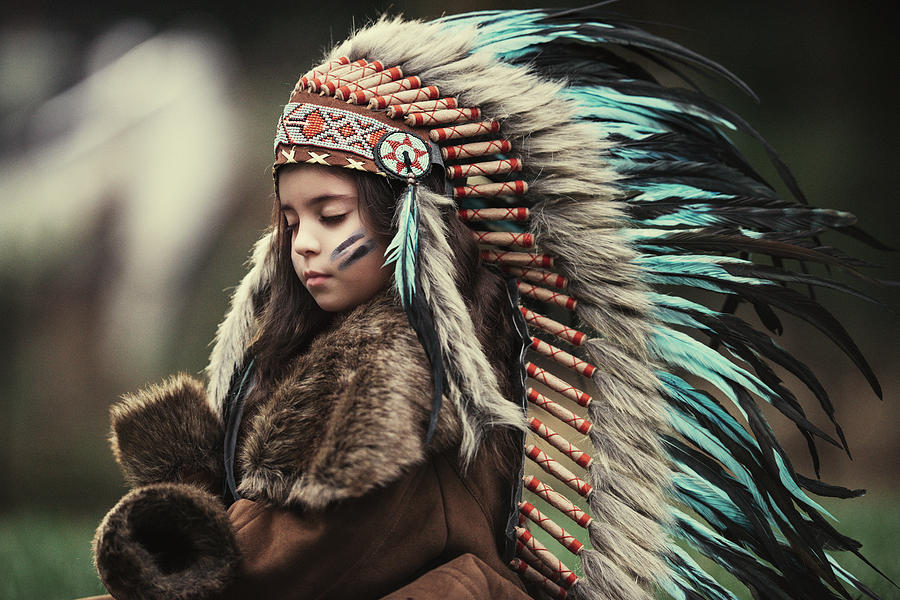 Hat Photograph - Chief Of My Dreams by Carmit Rozenzvig