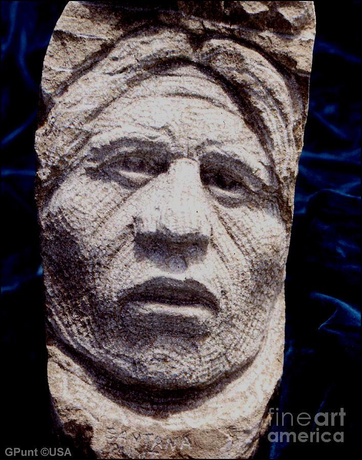 American Indians Sculpture - Chief-santana by Gordon Punt