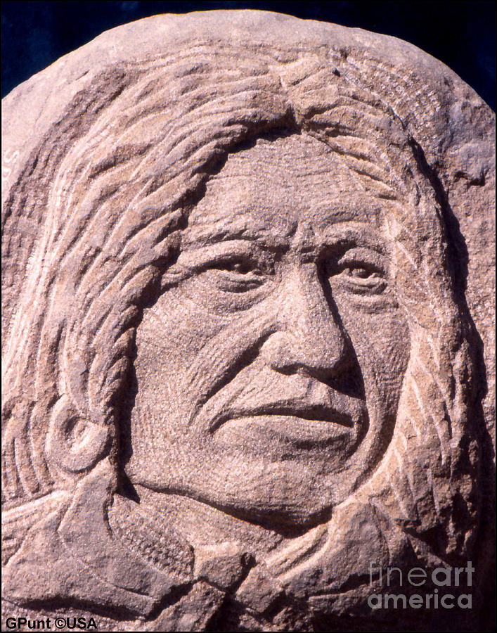 American Indians Sculpture - Chief-spotted-tail by Gordon Punt