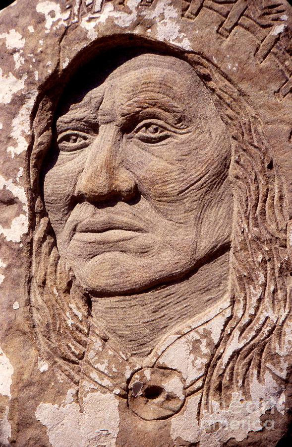 American Indians Sculpture - Chief-washakie by Gordon Punt