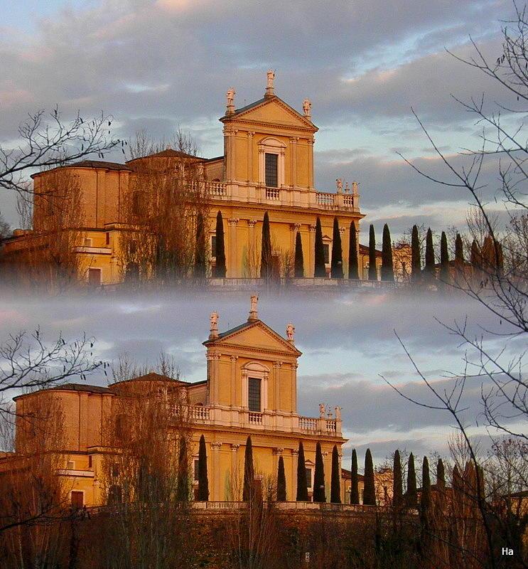 Chiesa  Bela Nuvole Alberi Primavera Photograph - Chiesa Radopiata by Halina Nechyporuk