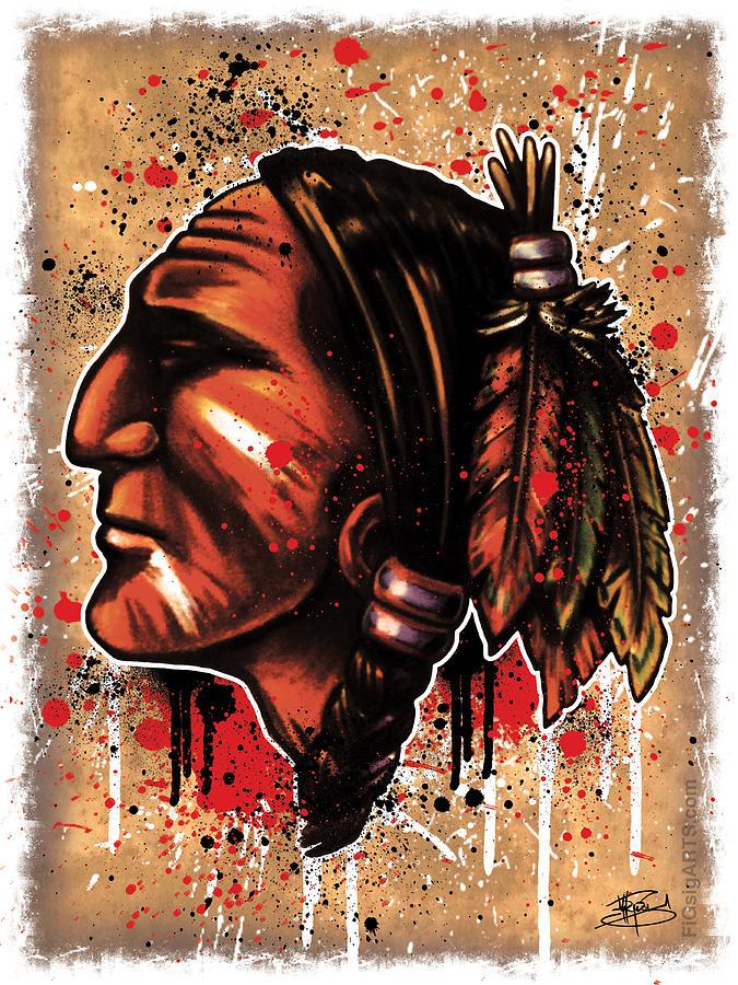 Chicago Mixed Media - Chihawk by Michael Figueroa