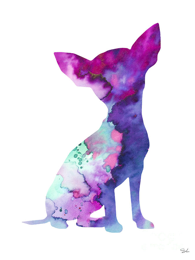 Illustration Painting - Chihuahua 7 by Watercolor Girl