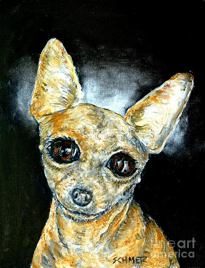 Chihuahua Painting - Chihuahua Angel by Jay  Schmetz