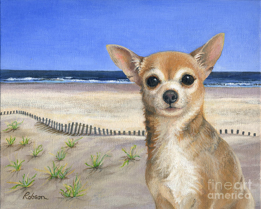 Chihuahua Painting - Chihuahua At Sea Isle City New Jersey by Peggy Dreher