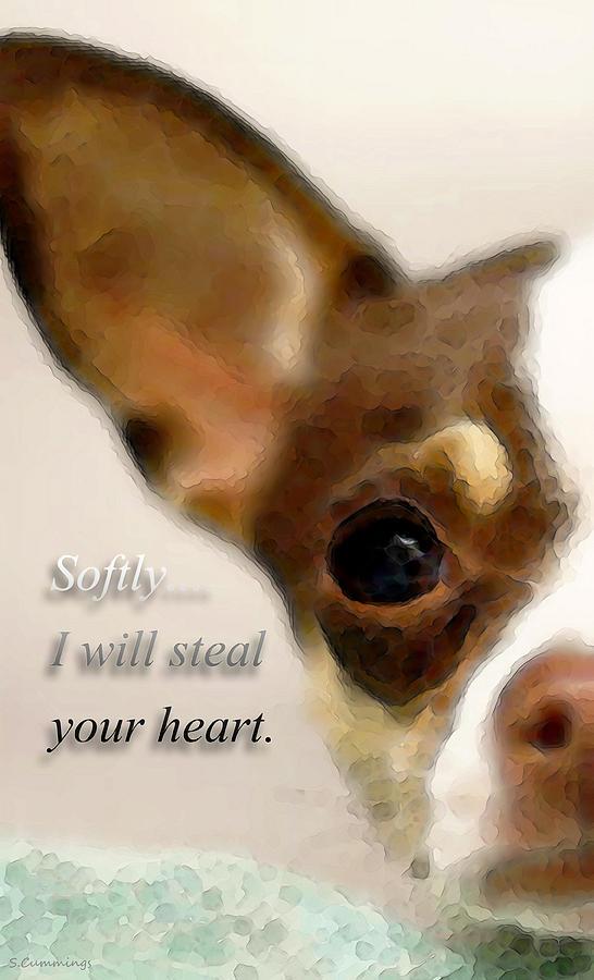 Chihuahua Painting - Chihuahua Dog Art - The Thief by Sharon Cummings