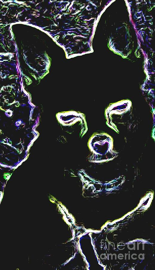 Photo Digital Art - Chihuahua Silhouette With Color by Gail Matthews