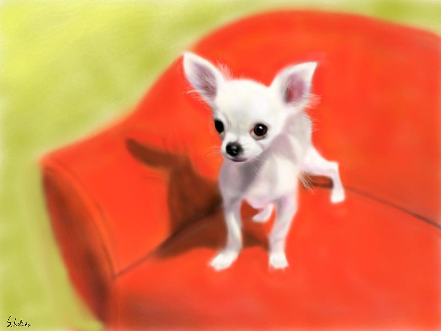 Ipad Painting - Chihuahua by Yoshiyuki Uchida