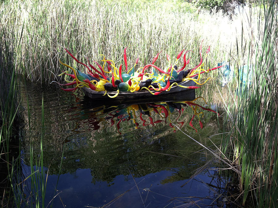 Glass Photograph - Chihuly Glass In Boat by Jack Edson Adams