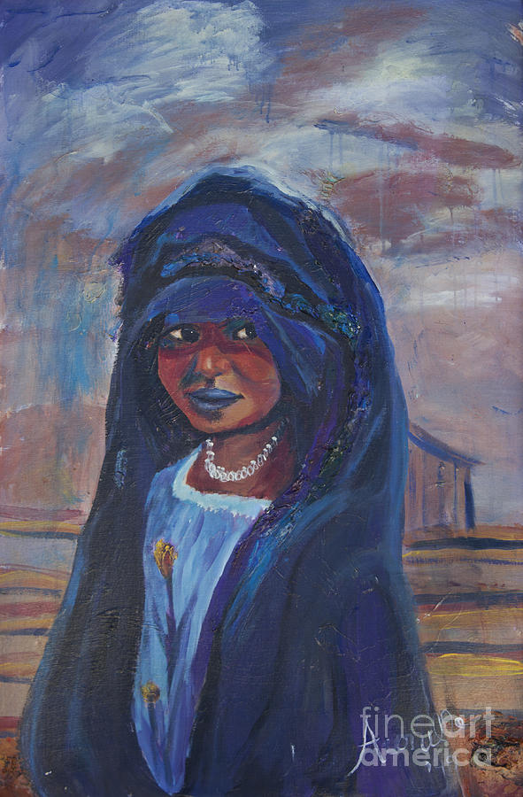 Child Painting - Child Bride Of The Sahara by Avonelle Kelsey