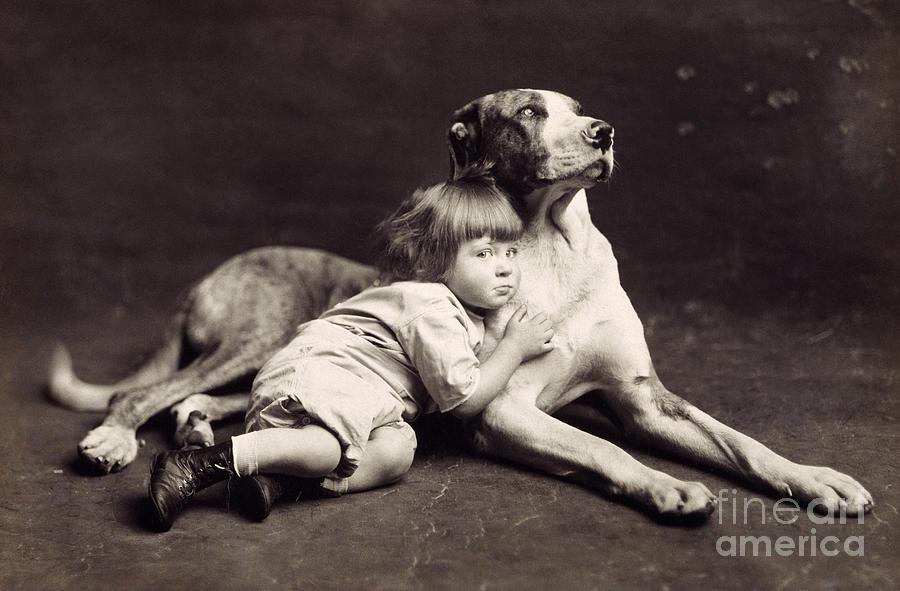 1900 Photograph - Child C1900 by Granger