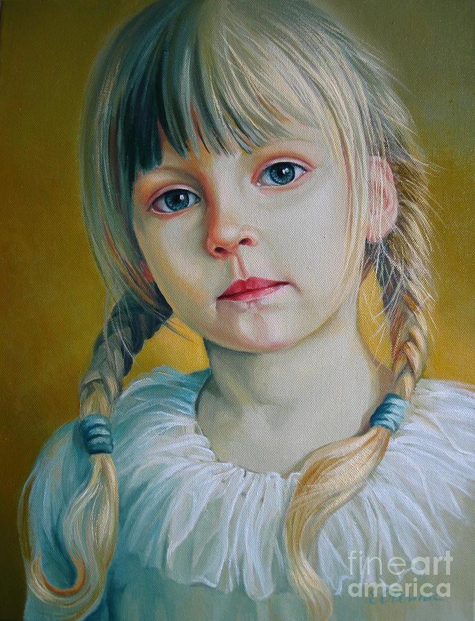 Child Painting - Child by Elena Oleniuc