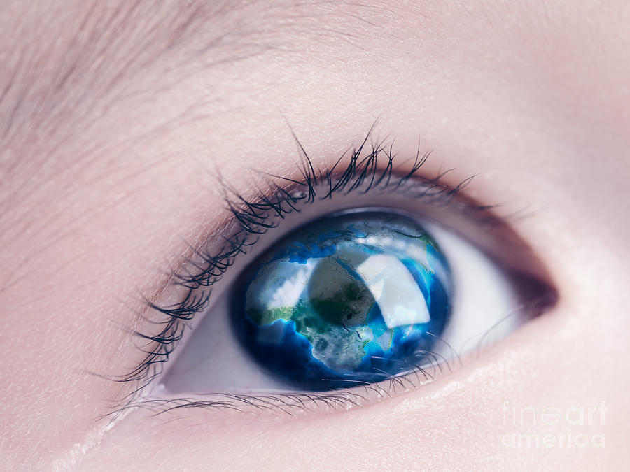 Child Eye With World Map Reflecting In It on eye earth, eye mind map, eye egypt, eye clock, home depot map, an old map,