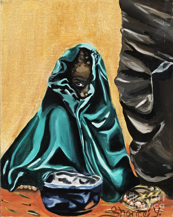 Child Painting - Child In Cloth by Shante Young