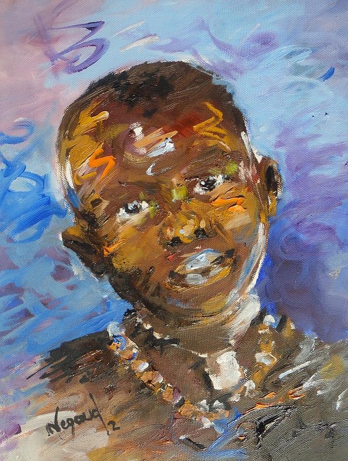 Portrait Painting - Child by Negoud Dahab