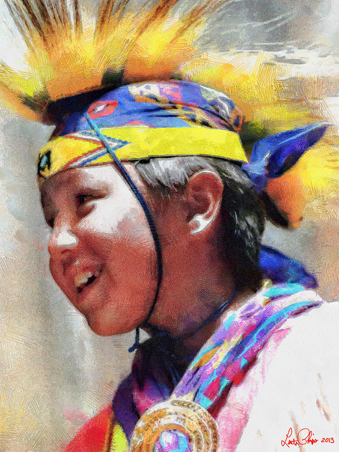 Boy Drawing - Child Of The Forest 1 by Lester Phipps