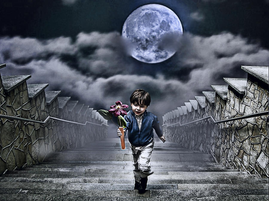 Child Of The Moon Photograph