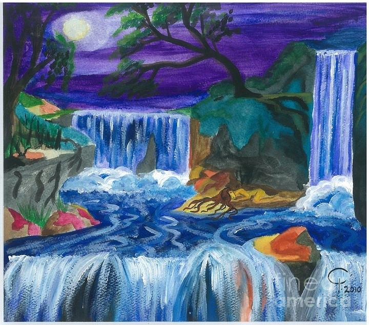 Child Painting - Child Of Water by Jeanel Walker