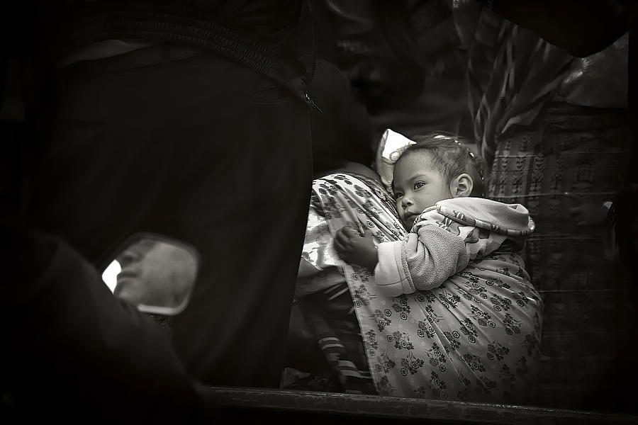 Child Photograph - Child  On A Journey by Tom Bell