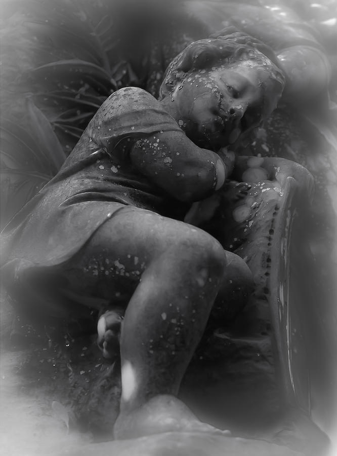 Angel Photograph - Child Statue by Jennifer Burley