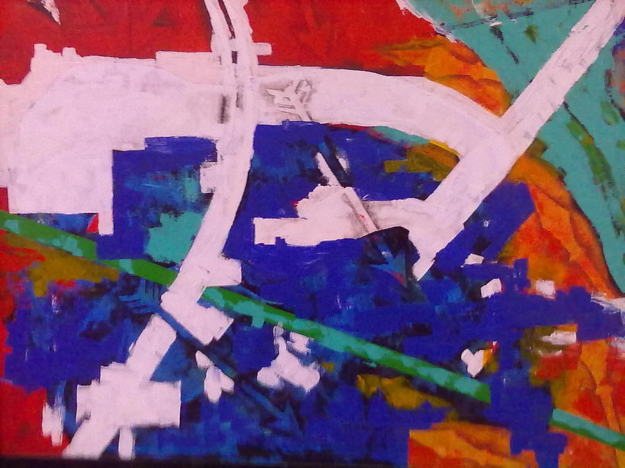 Arrow Painting - Child Thinking War 2 by Sahid Ahmed