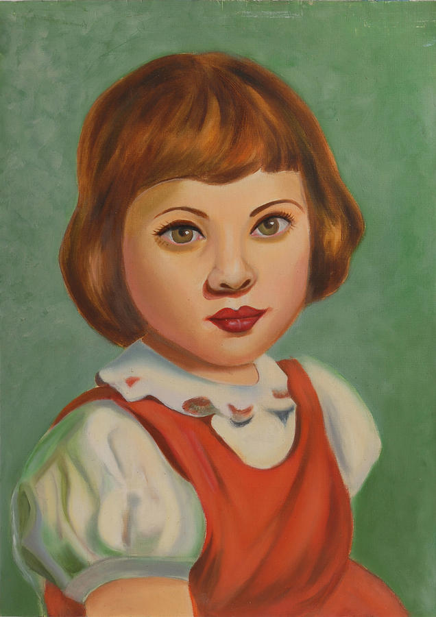 Portraits Painting - Childhood by Alka Sopariwala