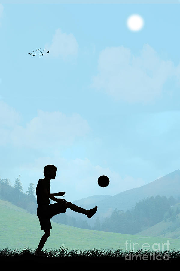 Childhood Memories Drawing - Childhood Dreams Football by John Edwards