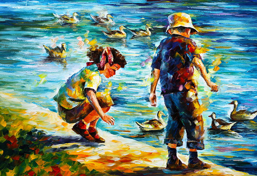 Childhood Painting By Leonid Afremov