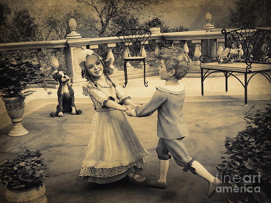 3d Digital Art - Childhood Memories by Jutta Maria Pusl