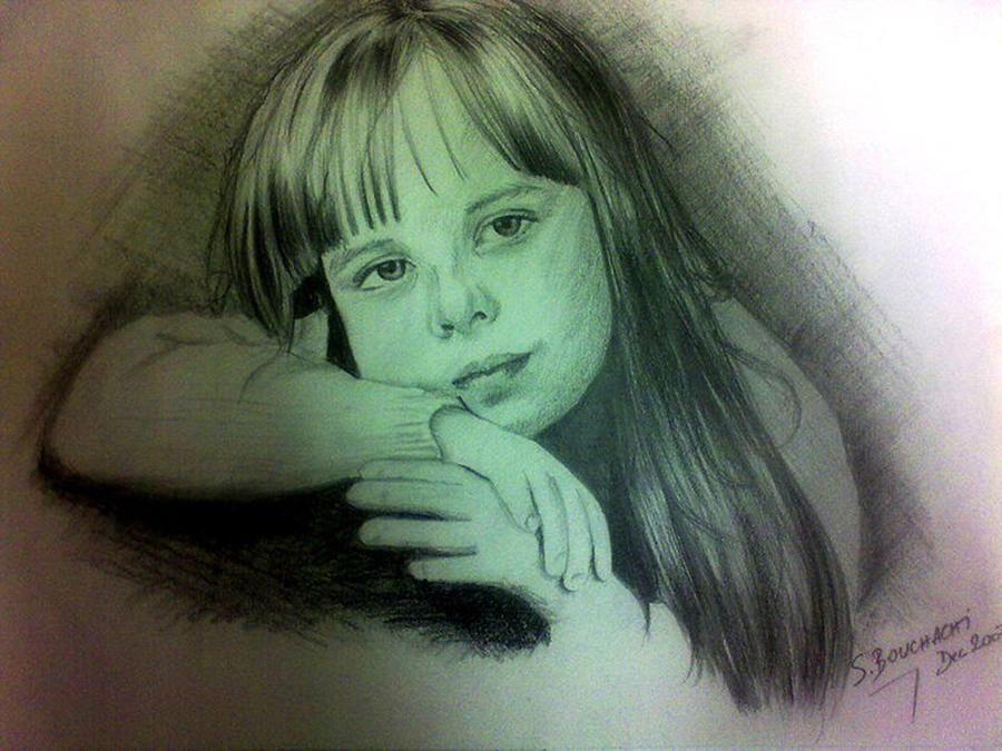 Drawing Drawing - Childhood by Soumya Bouchachi