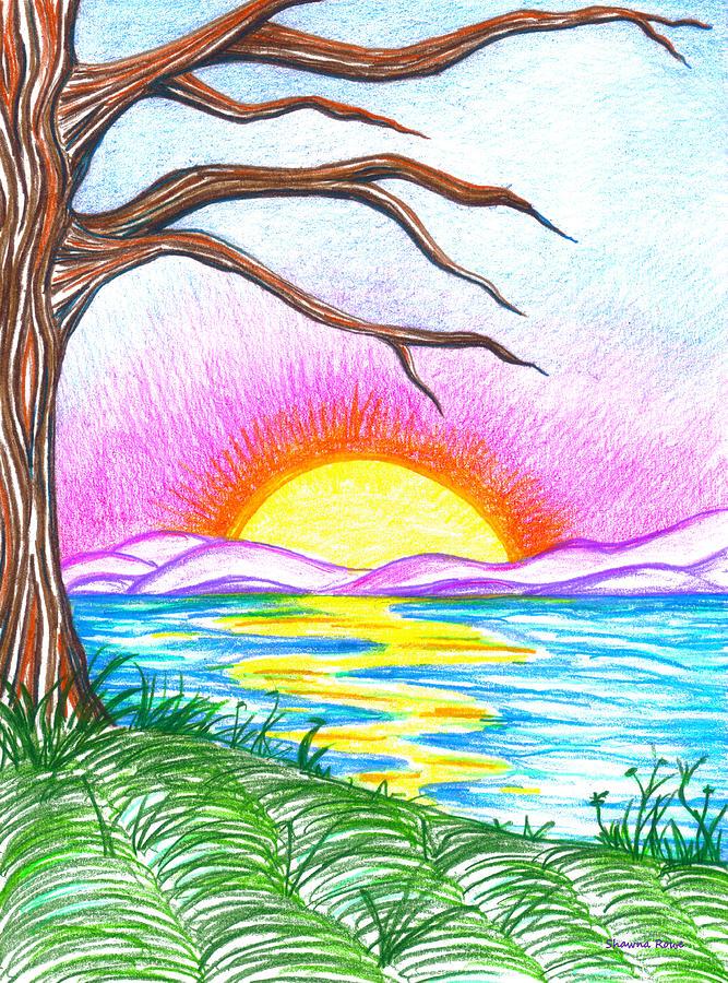 Landscape Drawing - Childlike Wonder by Shawna Rowe