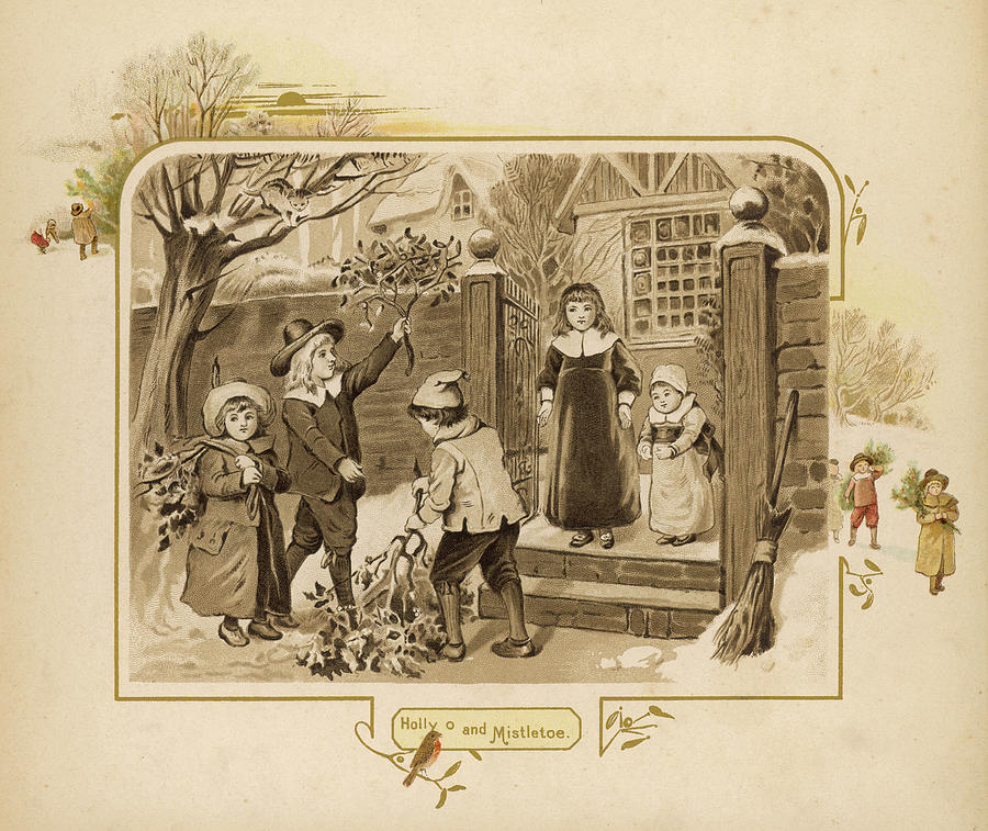 Home Drawing - Children Arrive Home And Proudly by Mary Evans Picture Library
