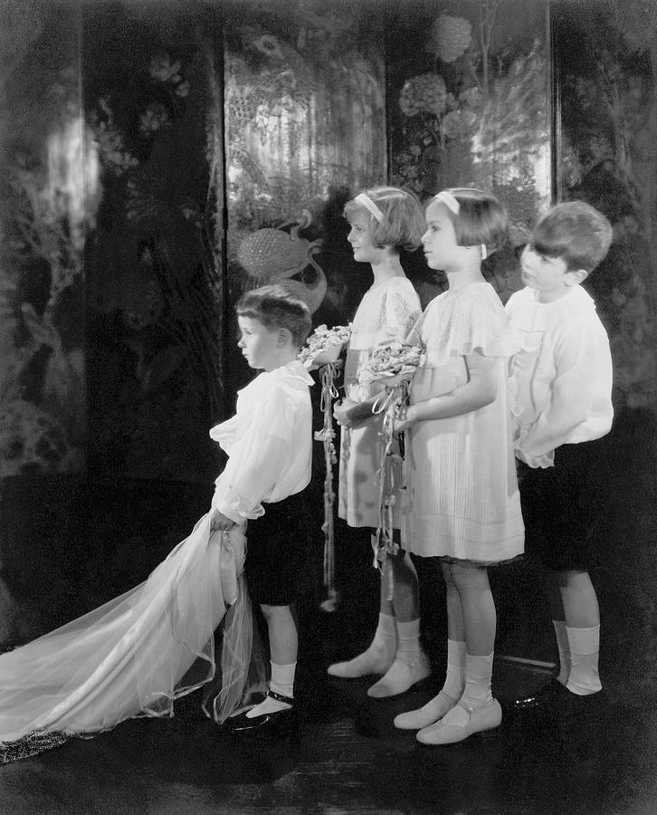 Children Photograph - Children In A Wedding Procession by Edward Steichen