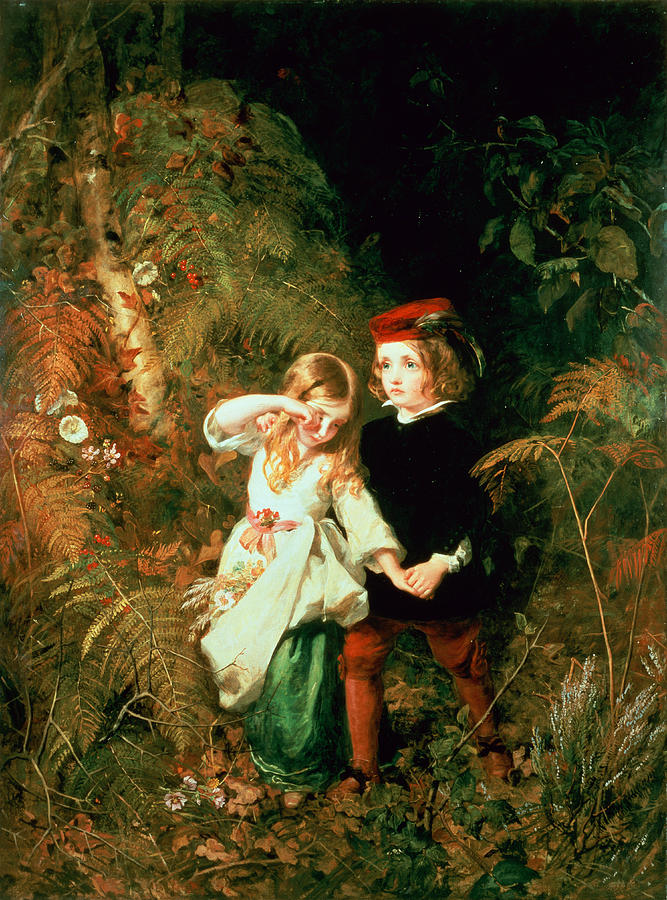 Babes Photograph - Children In The Wood by James Sant