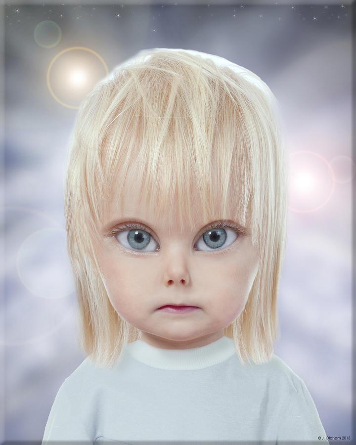 Alien Digital Art - Children Of The Greys by Jeffrey Oldham