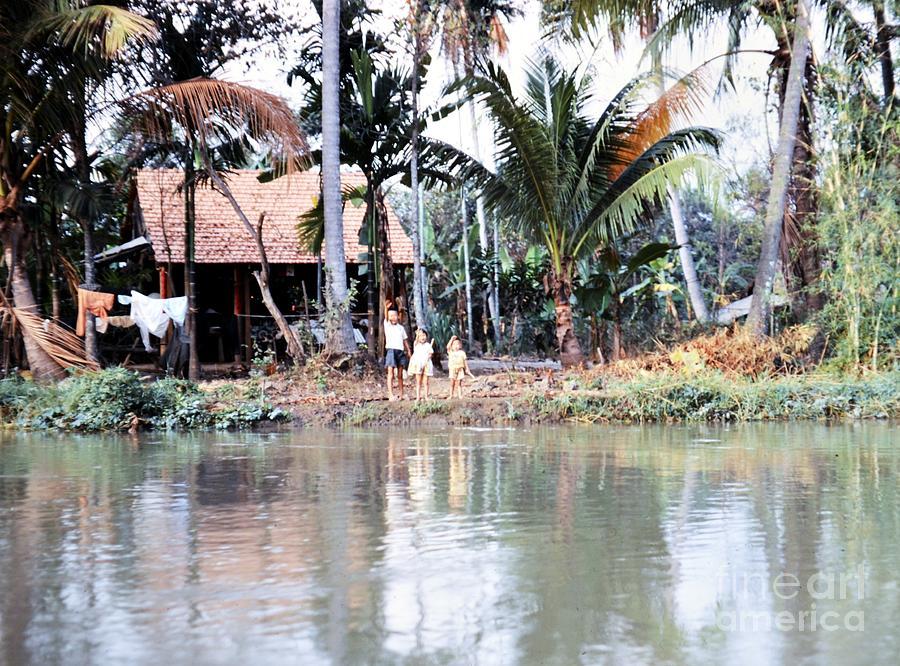 Vietnam Photograph - Children On The River by Mel Steinhauer
