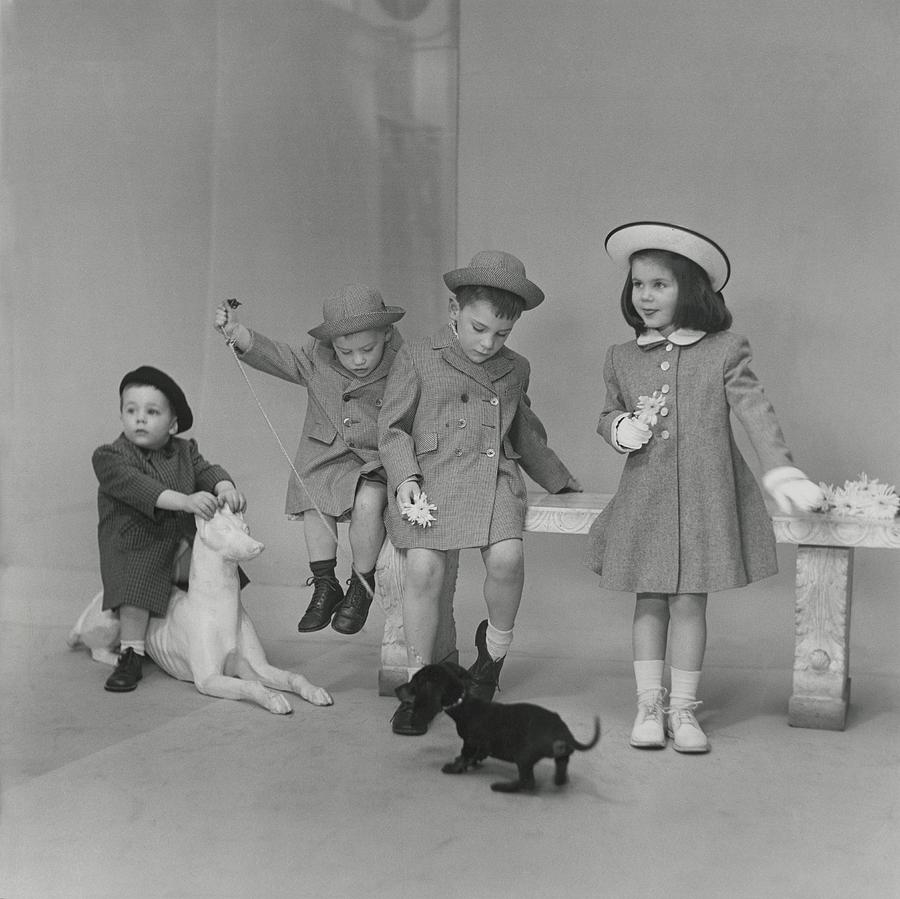 Children Wearing Coats And Hats Photograph by Frances McLaughlin-Gill
