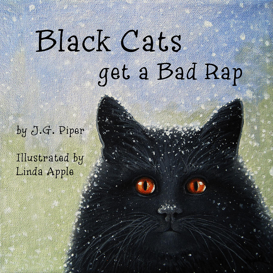 Children Painting - Childrens Book  Black Cats by Linda Apple