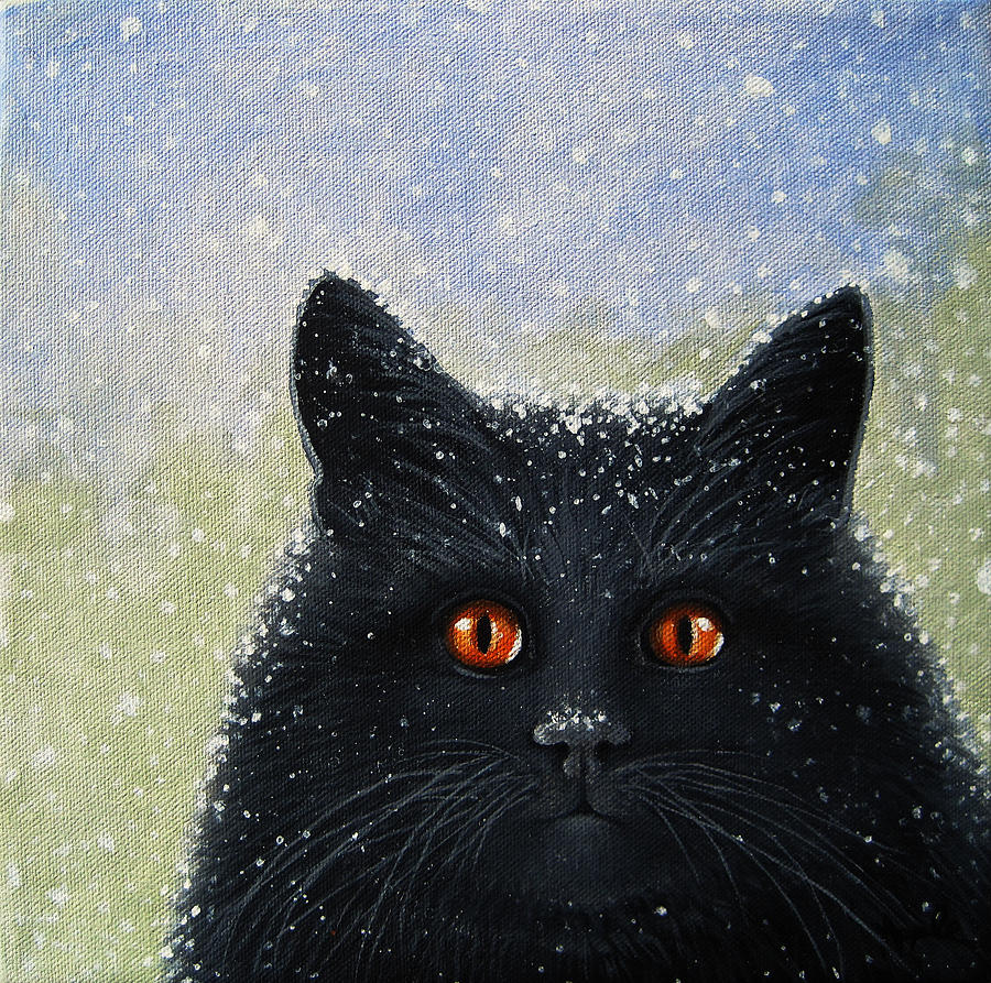 Cat Painting - Childrens Book Cover Painting by Linda Apple