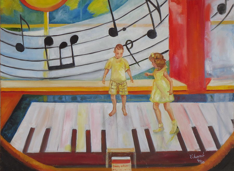 Blues Painting - Childs Play by Charme Curtin