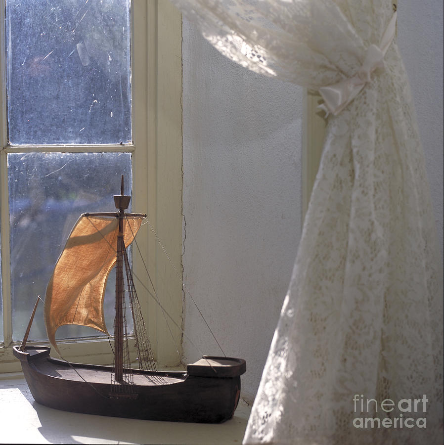 Boat Photograph - Childs Sailboat by Kathleen Gauthier