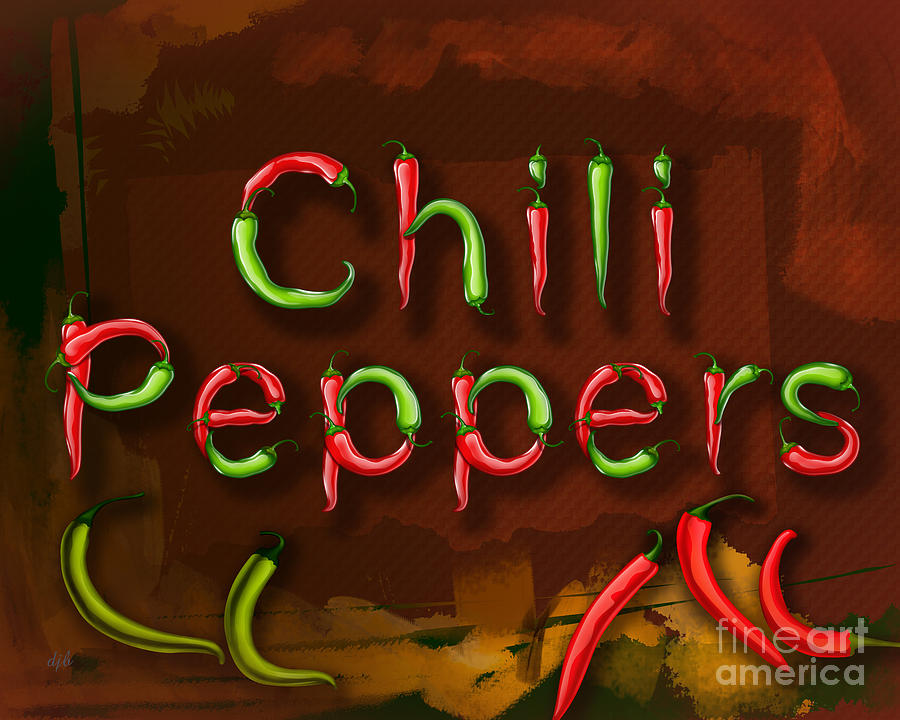 Pepper Digital Art - Chili Peppers by Peter Awax