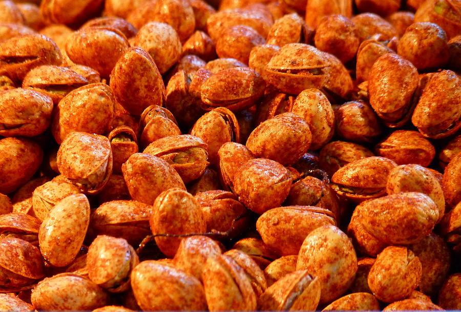 Pistachios Photograph - Chili Pistachios  by Jeff Lowe