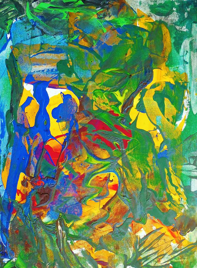 Abstract Painting - Chill I Knew This Jungle Years Ago    2013 09 26  Copy by Bruce Combs - REACH BEYOND